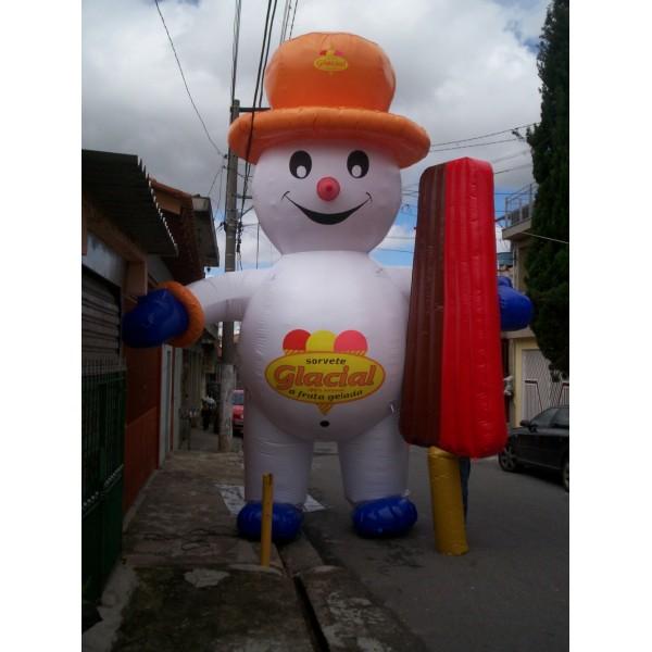 Boneco de Natal  na Capivari - Boneco Inflável de Natal