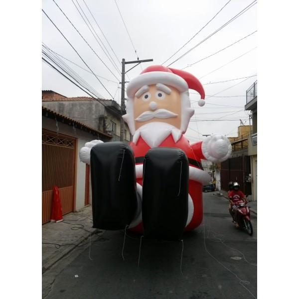 Bonecos de Natal em Trindade - Papai Noel Inflável Gigante