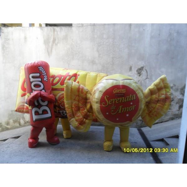 Fantasias em Alvinlândia - Fantasia de Mascote Inflável