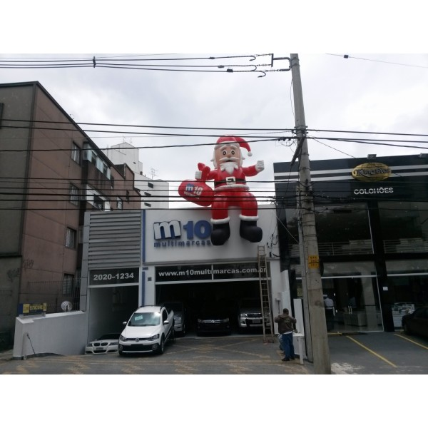Infláveis de Natal no Tucuruí - Papai Noel Inflável Gigante