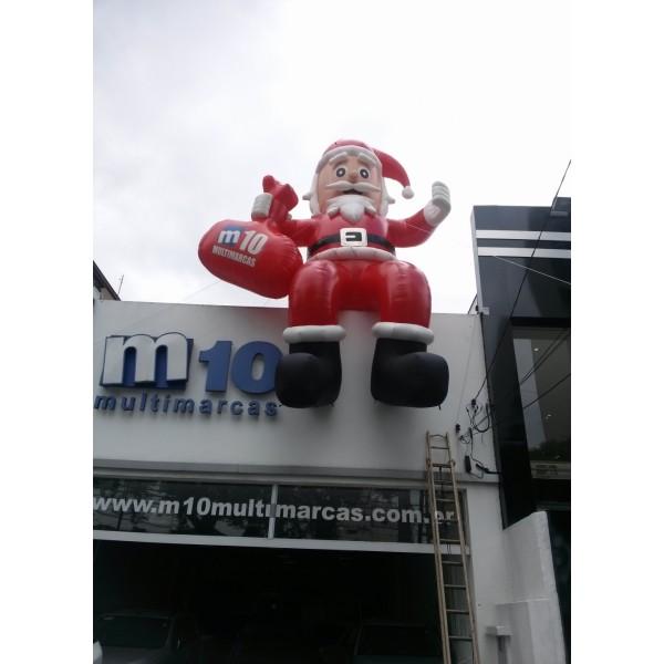 Papai Noel Inflável  na Nossa Senhora da Glória - Boneco Inflável de Natal