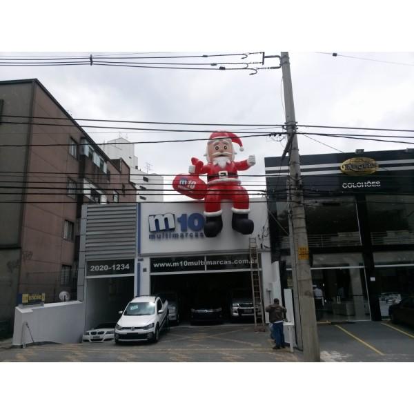 Papais Noéis em Lages - Papai Noel Inflável