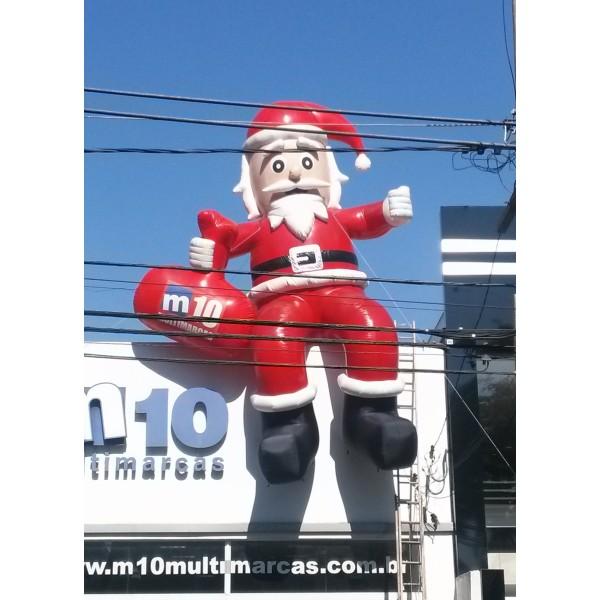 Preço de Boneco de Natal  em Juquiá - Decoração de Papai Noel Inflável