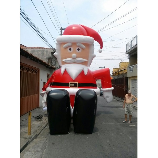 Preço de Boneco Inflável em Pindamonhangaba - Papai Noel Boneco Inflável