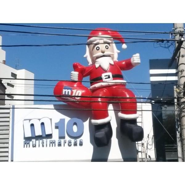 Preço de Bonecos de Natal na Itapoã - Decoração de Papai Noel Inflável