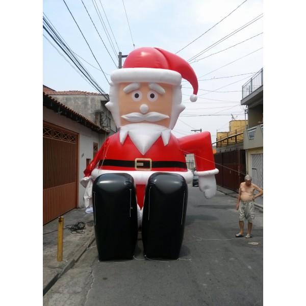 Preços de Boneco na CDHU Edivaldo Orsi - Decoração de Papai Noel Inflável