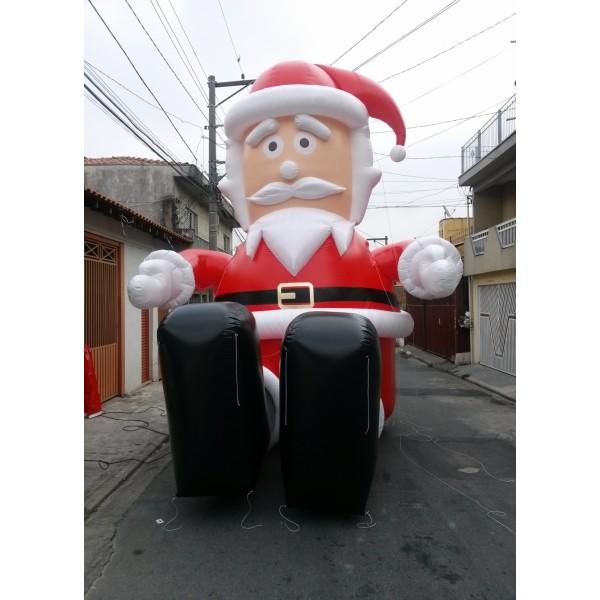 Preços de Bonecos de Natal na Goiana - Papai Noel Inflável Preço