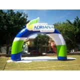 Portal inflável no Alto Alegre