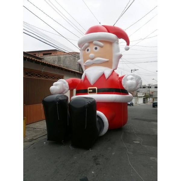 Valor de Papais Noéis no Jardim Piratininga - Decoração de Papai Noel Inflável