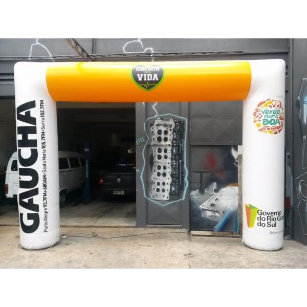 Valor de Portal Inflável na Chácaras Anhanguera - Portal Inflável para Eventos